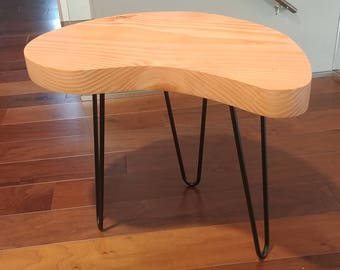A wood end table