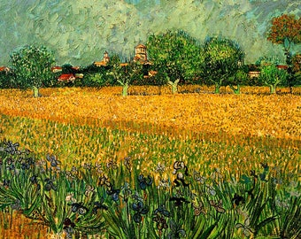PLACEMAT semi-rigid ORIGINAL AESTHETIC WASHABLE and durable - Van Gogh. View of Arles with iris - Version