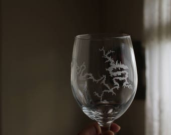 Lake of the Ozarks Wine Glass/ Lake wine glass