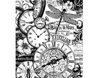 Clocks vingtage DFSA4189 rice paper