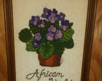 African Violet Wall Decor