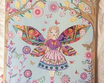 Woodland fairy print