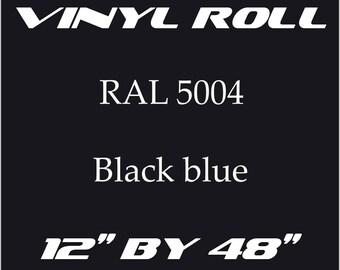 Night Blue - RAL 5004 - Gloss Vinyl Roll - 5 Year Durability Indoors or Outdoors - 75 Microns - Adhesive Vinyl, Cricut Vinyl, Outdoor Vinyl