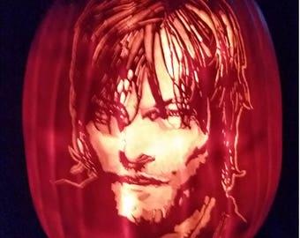 Daryl Dixon, The Walking Dead, pumpkin, Halloween, Norman Reedus