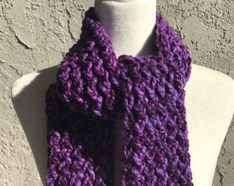 Handmade Knitted Straight Scarf - Item #2507