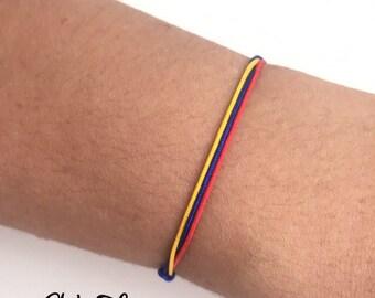 Pulsera de Colombia, Colombian Bracelet, Bracelet, Flag of Colombia Bracelet