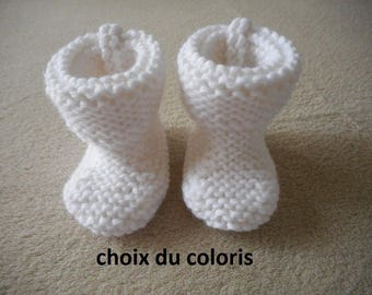 "Baby booties baby ""Garance"" choice of color."