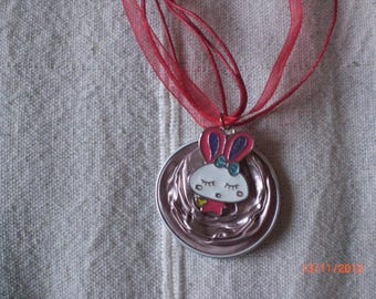 "Necklace ""pink Bunny"""