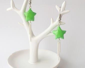 Origami shooting star earrings