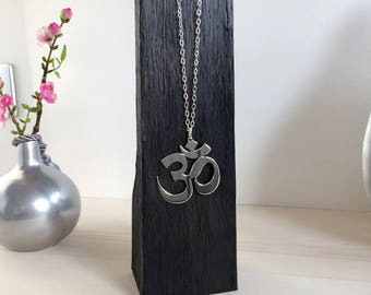 OM pendant in 925 Silver necklace