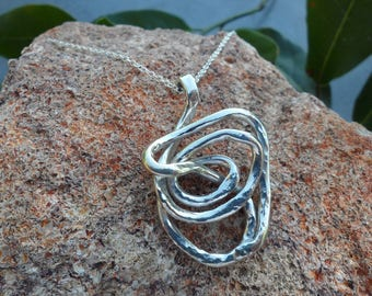 Sterling Silver Pendant -Contemporary Piece