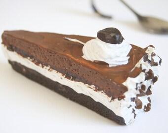 Candle hand cake chocolate mocha
