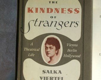 Review Copy, The Kindess of Strangers by Salka Viertel 1969