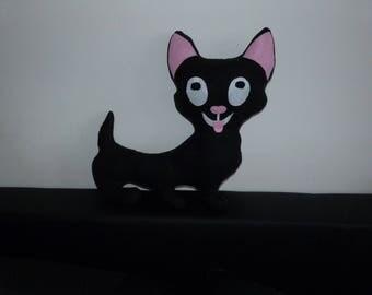 Funny cat shaped cushion