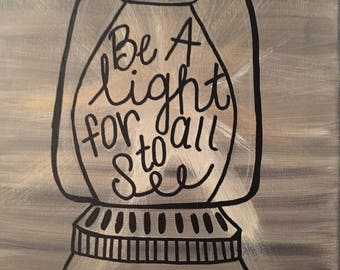 Be A Light For All To See Canvas