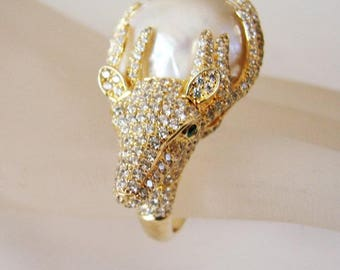 South Sea Pearl Creation Diamond 3.64Ct 18k Y/g