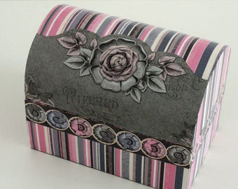 "Jewelry box ""antique Rose"""