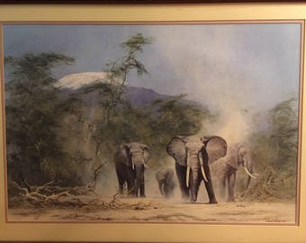 """David Shepherd Lithograph """"Lords of the Jungle"""""""