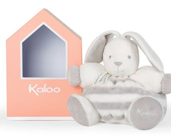 Kaloo Large Grey Stripe Chubby Rabbit
