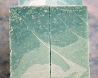 Handmade Soap - Green Ombre