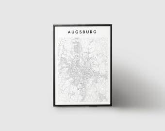 Augsburg Map Print