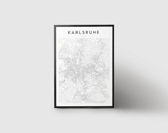 Karlsruhe Map Print