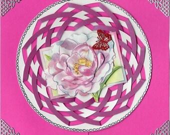 flowers 3 3D card