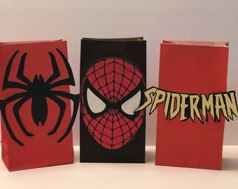 12 Spiderman Gift Bags
