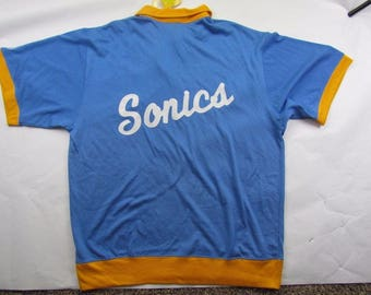 Basketball Jersey Sonics Shooting Shirt Men's Size 2XL Stall & Dean Blue MSRP 175