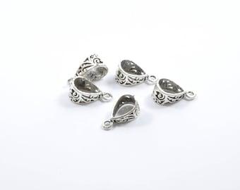 AP24 - Set of 5 cords in silver metal loops