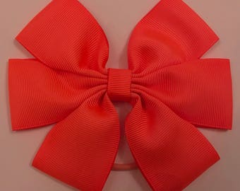 Bright orange large bow