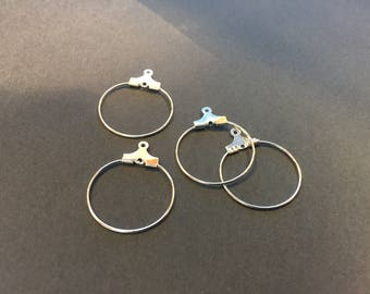 20 mini hoop earrings 20mm silver jewelry designs