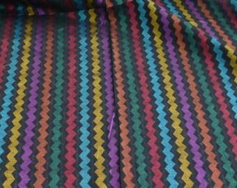 Silk Haute Couture woven multicolor stripe hand