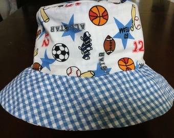 Lil boy's sports bucket hat