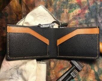 Black & Tan Bifold Leather Wallet