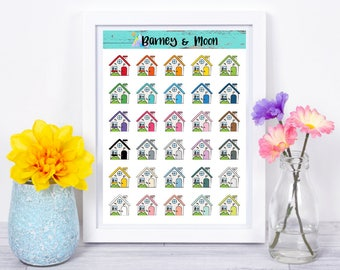 House Icons | Planner Stickers