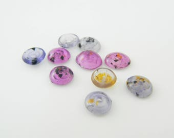 multicolored 8mm x 10 (l264) rondelle bead set