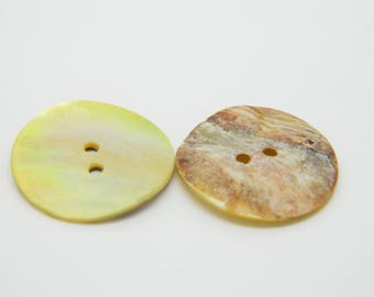 5 x 25mm (l872) yellow mother of Pearl button