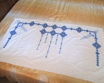 Hand-embroidered bulgarian wall cover, Vintage Handmade Wall Decoration, Wall Tapestry,Bulgarian Embroider Rug