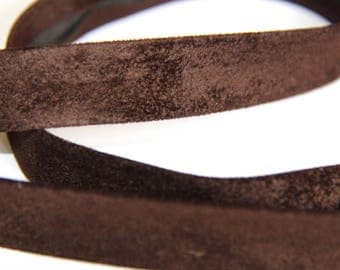 THROUGH 18MM IMITATION SUEDE BROWN DARK