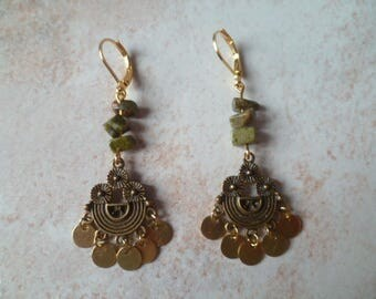 Ethnic earrings stones and sequins
