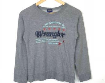 Rare!!! Vintage!!! Wrangler Sweatshirt Pullover Spellout Multicolors