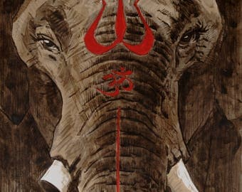 The Ganesha Portrait - Fine Art Print 30x30cm