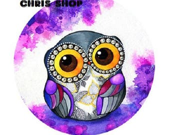 cabochon 18mm, small OWL