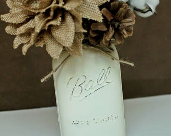 Ball Mason Jar Vase, Country Decor, Rustic Decor, Housewarming Gift
