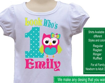 Owl Birthday Shirt/Owl Stickers/Owl Invitations/Owl Party/Owl Shirt/Owl Birthday/Owl/Owl Birthday Party/Owl Cupecake Toppers/Owl Banner