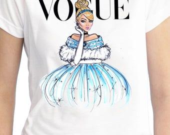 Cinderella Vogue Shirt/Cinderella Shirt/Cinderella Birthday Shirt/Cinderella/Cinderella tshirt/Cinderella Stickers/Vogue Shirt
