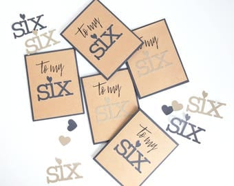 To My Six - Handmade Just Because Greeting Card for Loved One
