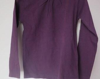 1435v: 6 Shiny ebondy nine purple t-shirt