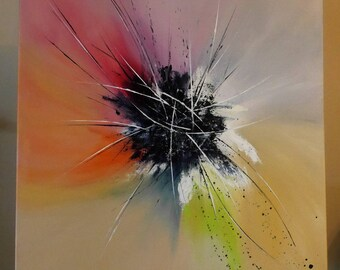 abstract and colorful painting